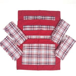 WILLIAMS SONOMA Plaid Placemats & Napkins Set of 4